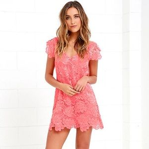 BB Dakota Jaqueline Coral shift dress